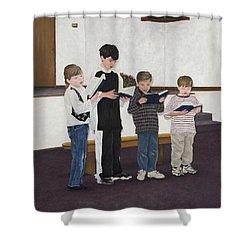Children Sing Praise Shower Curtain