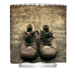 Children's Shoes Shower Curtain by Joana Kruse