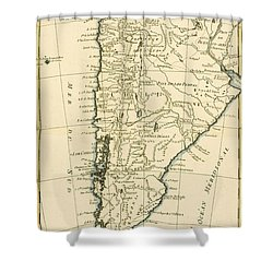 Chile Shower Curtain by Guillaume Raynal