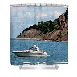 Chimney Bluffs On Lake Ontario Shower Curtain by Rose Santuci-Sofranko