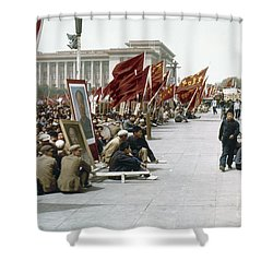 China: Cultural Revolution Shower Curtain by Granger