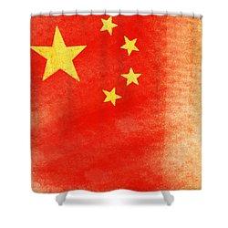 China Flag Shower Curtain by Setsiri Silapasuwanchai