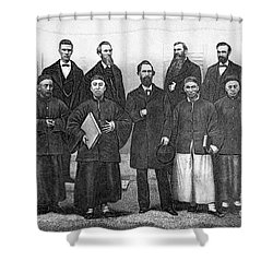 China: Missionaries, 1876 Shower Curtain by Granger