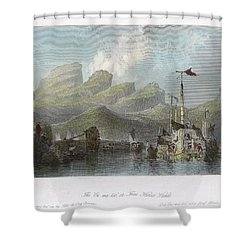 China: Mountains, 1843 Shower Curtain by Granger