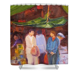Chinatown  Vancouver Shower Curtain by Mohamed Hirji