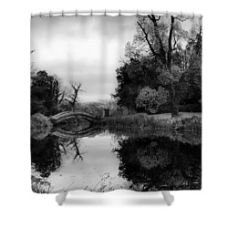 Chinese Bridge At Wrest Park Shower Curtain