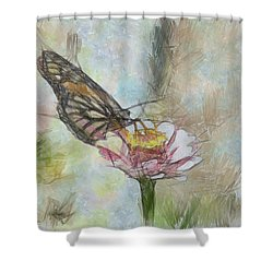 Chinese Butterfly Shower Curtain by Trish Tritz