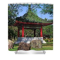 Chinese Gardens Garden Pavilion 21b Shower Curtain by Gerry Gantt