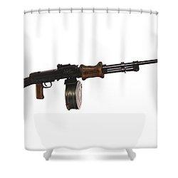 Chinese Type 56 Light Machine Gun Shower Curtain by Andrew Chittock