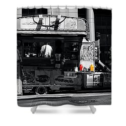 Chip Wagon Shower Curtain by Andrew Fare