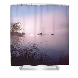 Chippewa River At Dawn Shower Curtain