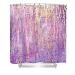 Chitchat Shower Curtain by Rachel Christine Nowicki