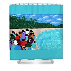 Chou Chou Beach Haiti Shower Curtain