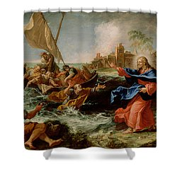 Christ At The Sea Of Galilee Shower Curtain by Sebastiano Ricci