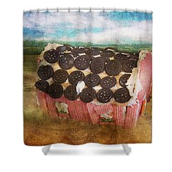 Christmas - Home Sweet Home Shower Curtain by Mike Savad