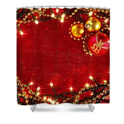 Christmas Frame Shower Curtain by Carlos Caetano