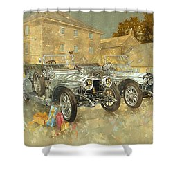 Christmas Ghosts At The Hunt House Shower Curtain by Peter Miller