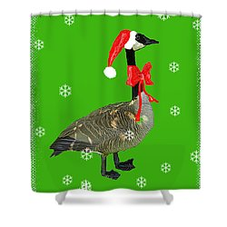 Christmas Goose Shower Curtain