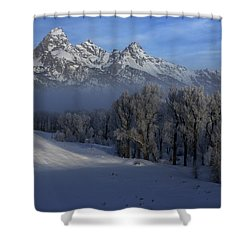 Christmas Morning Grand Teton National Park Shower Curtain