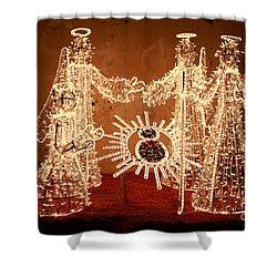 Christmas Scene Shower Curtain by Gaspar Avila