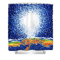 Christmas Star Shower Curtain