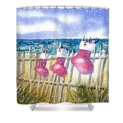 Christmas Stockings Shower Curtain by Joseph Gallant