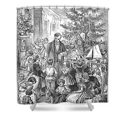 Christmas Tree, 1870 Shower Curtain by Granger