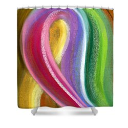 Chromatic Shower Curtain by Hakon Soreide