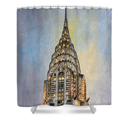 Chrysler Building I Shower Curtain by Clarence Holmes