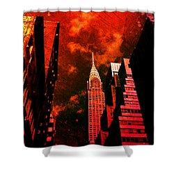 Chrysler Building - New York City Surreal Shower Curtain by Vivienne Gucwa