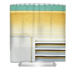 Church Abstract Shower Curtain by Lenore Senior