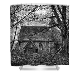 Church In The Woods Shower Curtain by Dave Godden