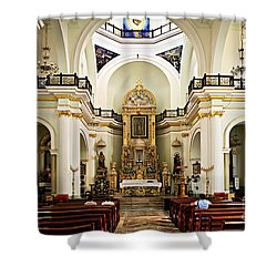 Church Interior In Puerto Vallarta Shower Curtain by Elena Elisseeva