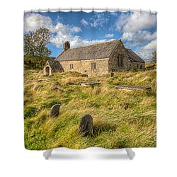 Church Of Celynnin Shower Curtain by Adrian Evans