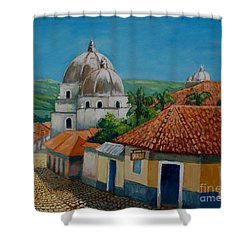 Church Of Pespire In Honduras Shower Curtain