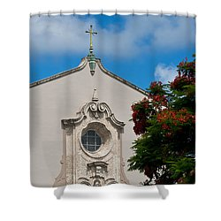 Shower Curtain featuring the photograph Church Of The Little Flower by Ed Gleichman