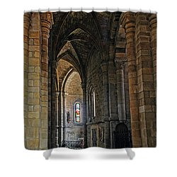 Shower Curtain featuring the photograph Church Passageway Provence France by Dave Mills