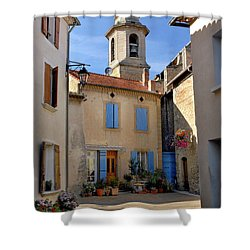 Shower Curtain featuring the photograph Church Steeple In Provence by Dave Mills