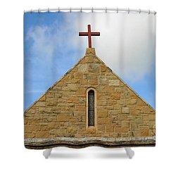 Church Top Shower Curtain by Henrik Lehnerer