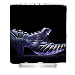 Cindy's Slipper Shower Curtain by Wayne Sherriff