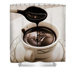 Cioccolata Calda Shower Curtain by Catie Canetti