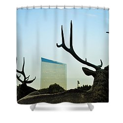 Cira Center From Eakins Oval Shower Curtain by Bill Cannon
