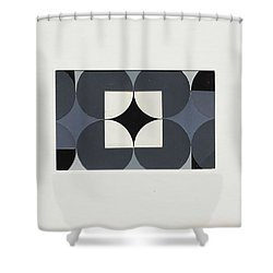 Circle Trio Shower Curtain
