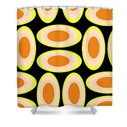 Circles Shower Curtain by Louisa Knight