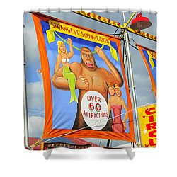 Circus Attractions Shower Curtain by David Lee Thompson
