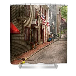 City - Rhode Island - Newport - Journey  Shower Curtain by Mike Savad