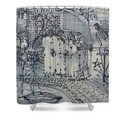 City Doodle Shower Curtain