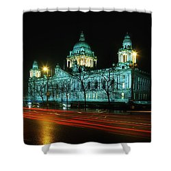 City Hall, Belfast, Ireland Shower Curtain by The Irish Image Collection