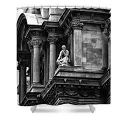 City Hall Edifice - Philadelphia Shower Curtain by Bill Cannon