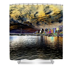City Of Color Shower Curtain by Douglas Barnard